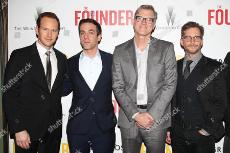 Stock Picture of Patrick Wilson, BJ Novak, John Lee Hancock (Director) and Robert D. Siegel