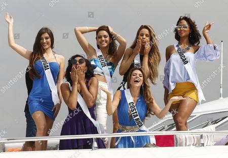 Editorial photo of Miss Universe candidates visit Philippine Navy, Manila, Philippines - 19 Jan 2017