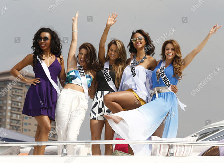 Editorial picture of Miss Universe candidates visit Philippine Navy, Manila, Philippines - 19 Jan 2017