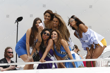 Editorial image of Miss Universe candidates visit Philippine Navy, Manila, Philippines - 19 Jan 2017