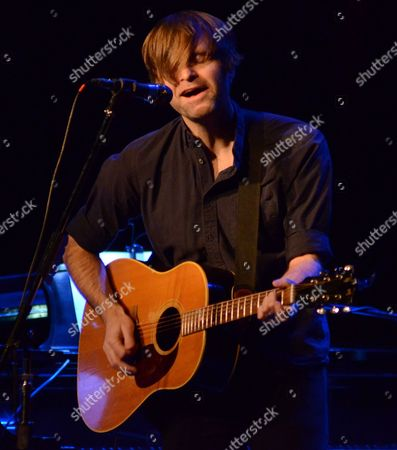 Singer songwriter Benjamin Gibbard performs at the Pabst Theater in Milwaukee, WI