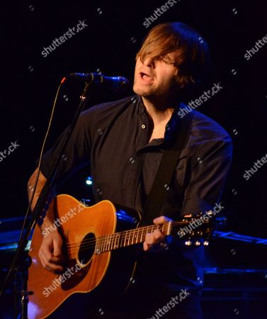 Stock Image of Singer songwriter Benjamin Gibbard performs at the Pabst Theater in Milwaukee, WI