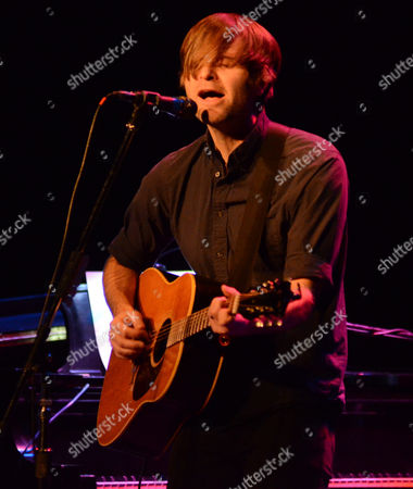 Stock Photo of Singer songwriter Benjamin Gibbard performs at the Pabst Theater in Milwaukee, WI
