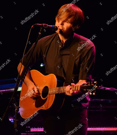Stock Picture of Singer songwriter Benjamin Gibbard performs at the Pabst Theater in Milwaukee, WI