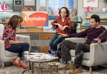 Lorraine Kelly, David Caves and Liz Carr