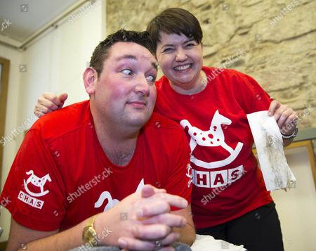 Scottish Conservative Miles Briggs MSP with Ruth Davidson leader of Scottish Conservatives