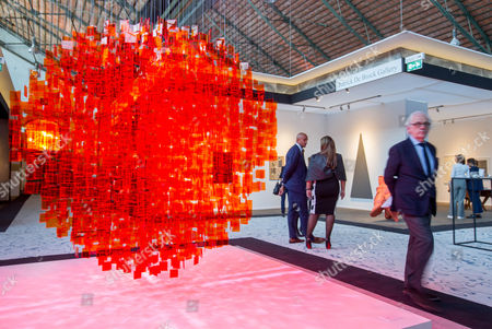 A man walks by an artwork entitled 'Continuel Mobile' by Argentinian artist Julio Le Parc during the BRAFA Art Fair in Brussels, Belgium, 19 January 2017. The BRAFA features 132 antique dealers and gallerists from 16 different countries and runs from 21 to 29 January.