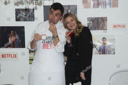 Drew Barrymore and Ramon Freixa
