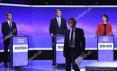 Manuel Valls, Arnaud Montebourg and Sylvia Pinel