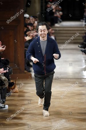 Stock Image of Junichi Abe on the catwalk
