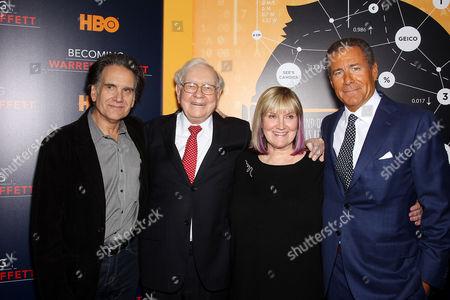 Peter Buffett, Warren Buffett, Susan Alice Buffett, Richard Plepler (Chairman, CEO of HBO)