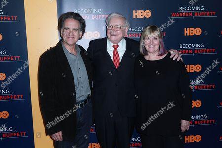 Peter Buffett, Warren Buffett and Susan Buffett