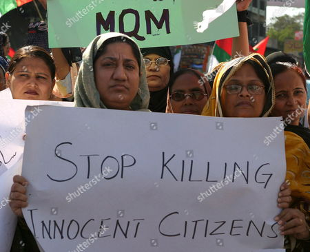 Pakistani Women Hold Banners and Posters As They Attend an Anti Us Rally in Karachi On Sunday 15 January 2006 to Condemn the Usa-cia Airstrike On a Pakistani Village at the Afghan Border That Killed Innocent Civilians Instead of the Apparent Target of Al-qaida Lieutenant Ayman Al-zawahiri On 14 January