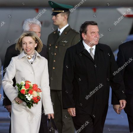 Editorial picture of Russia Germany Chancellor Arrival - May 2005
