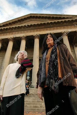South African Nobel Laureate in Literature Nadine Gordimer (l) and New York-based Novelist Cultural Philosopher and Activist Susan Sontag (r) Wait Ahead of the Inaugural Nadine Gordimer Lecture in the Great Hall of the University of the Wiwatersrand in Johannesburg South Africa Wednesday 10 March 2004
