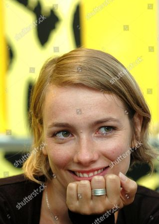 Stock Picture of Actress Julie-anne Roth Listens to a Question As She Talks About Her Role in Israeli Director Eran Riklis' Film 'Hacala Hasurit' ('the Syrian Bride') During a Press Conference at the 57th International Film Festival of Locarno Wednesday 11 August 2004 in Locarno Switzerland Switzerland Schweiz Suisse Locarno