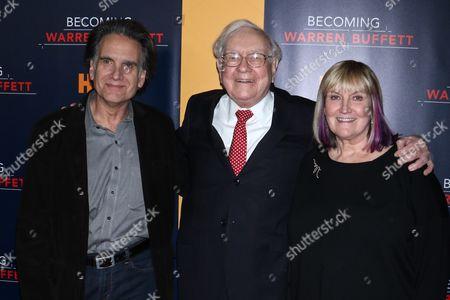 Peter Buffett, Warren Buffett and Susan Alice Buffett