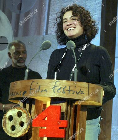 Cinematographer Ferne Pearlstein Accepts the Documentary Cinematography Award For the Film 'Imelda' at the 2004 Sundance Film Festival Awards Show 24 January 2004 in Park City Utah