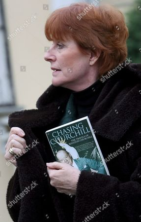 Celia Sandys Granddaughter of Former British Prime Minister Winston Churchill Carrying a Copy of Her Book 'Chasing Churchill' Prior to Meeting Legendary Soviet Secret Service Agent Ghevork Vartanian in Moscow 19 October 2007 Ghevork Vartanian Took Part in Preventing the Assassination of Franklin D Roosevelt Winston Churchill and Josef Stalin the Leaders of the U S Britain and Soviet Union During Their Meeting in Tehran Iran in 1943 Celia Sandys Arrived in Moscow to Make a Film On the History of Russo-british Relations