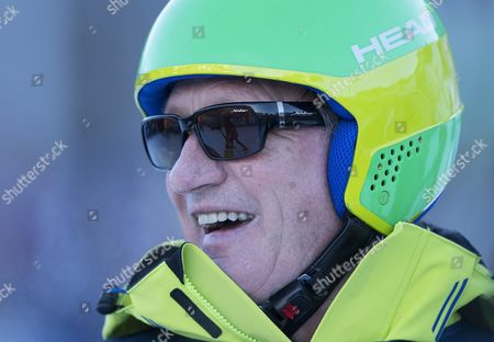 Franz Klammer enjoying the Kitz Charity Trophy Ski Race Kitzbuhel Austria AUDI FIS SKI WORLD CUP 2016/2017 MENS DOWNHILL Hahnenkamm Kitzbuhel Austria 2017 Picture: Sandra Mailer 21/1/2017