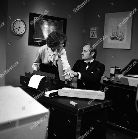 Patricia Shakesby as Anne Shaw; David McCallum as Steel - from TV series Sapphire And Steel: Adventure Five: Doctor McDee Must Die