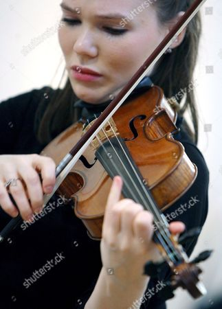 British Violinist Tamsin Waley-cohen Plays a Stradivari Violin Known As 'The Penny' at Christie's Auction House in London Britain 07 March 2008 Made in Cremona Italy by Antonio Stradivari Circa 1700 the Violin is Expected to Fetch in the Region of 800 000 - 1 2 Million Euros at Auction 04 April