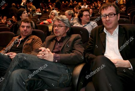 General Delegate of the Directors' Fortnight Olivier Pere (r) French Film Director Christian Vincent (c) and Film Director Pierre Salvadori (l) Pose Before the Presentation of the 40th Edition of the Directors' Fortnight in Paris France 25 April 2008 Born From the Movment of May 1968 the Directors Fortnight That Was Created by the Srf ( French Driectors Society) Programs a Selection of Films From Around the World During the Cannes Film Festival the 40th Edition of the Directors' Fortnight Will Run From 15 May to 25 May 2008 in Cannes France