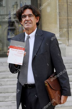 French Former Minister of Education Luc Ferry Pauses For Photographs at His Arrival at the Elysee Palace For a Meeting with French President Nicolas Sarkozy (unseen) in Paris France 10 September 2008 French President Nicolas Sarkozy Ordered Him a Report On a Civic Service That Would Replaced the Former National Military Service That Was Stopped by French Former President Jacques Chirac