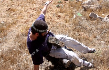 Editorial image of Mideast Palestinians Israeli Settlers Scuffle Withpeace Activits - Oct 2008