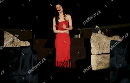 French Soprano Emma Shapplin Performs During Her Concert During an Event Entitled 'Roman Night' at the Ancient Town of Viminacium Serbia 30 August 2008 the Historic Town of Viminacium Capital of the Roman Province Upper Mesia is Situated Next to the Mining Town of Kostolac Some 80 Kilometres South-east From the Serbian Capital of Belgrade Viminacium Today is Valuable Archaeological Site in Serbia