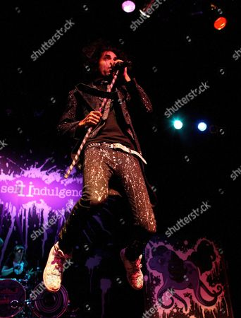 Jimmy Urine Lead Singer of the Us Band Mindless Self Indulgence Performs at the Murat Theater in Indianapolis Indiana 23 September 2008