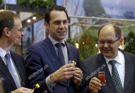 Christian Schmidt, Michael Mueller and Martijn van Dam