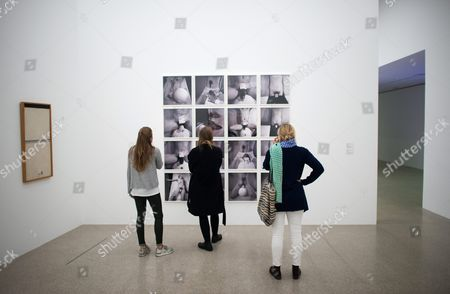 A Picture Made Available on 29 April 2016 Shows Visitors Looking at Photographs of the Series '2nd Action' and '3rd Action' by Austrian Photographer and Artist Rudolf Schwarzkogler During a Special Guided Tour by Austrian Artist Hermann Nitsch (unseen) of the Exhibition 'Body Psyche and Taboo - Vienna Actionism and Early Vienna Modernism' (koerper Psyche and Tabu - Wiener Aktionismus and Die Fruehe Wiener Moderne) at the Mumok (museum Moderner Kunst Stiftung Ludwig Wien) in Vienna Austria on 28 April 2016 the Exhibition Opens to the Public From 04 March to 16 May 2016 Austria Vienna