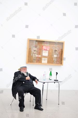 A Picture Made Available on 29 April 2016 Shows Austrian Painter and Performance Artist Hermann Nitsch Talking to Participants During a Special Guided Tour of the Exhibition 'Body Psyche and Taboo - Vienna Actionism and Early Vienna Modernism' (koerper Psyche and Tabu - Wiener Aktionismus and Die Fruehe Wiener Moderne) at the Mumok (museum Moderner Kunst Stiftung Ludwig Wien) in Vienna Austria on 28 April 2016 the Exhibition Opens to the Public From 04 March to 16 May 2016 Austria Vienna
