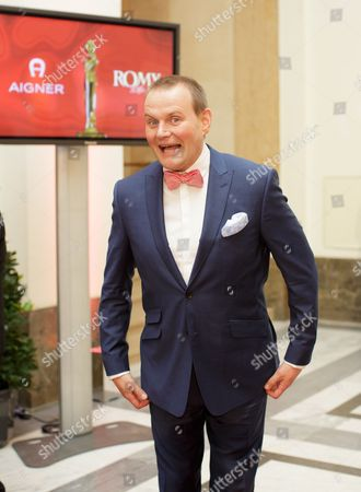 German Actor Devid Striesow Arrives on the Red Carpet Ahead of the Romy Gala in Vienna Austria 16 April 2016 Austria Vienna