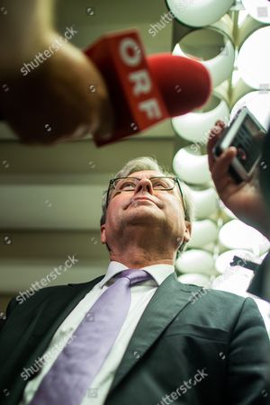 Alexander Wrabetz Director General of the National Public Service Austrian Broadcasting Corporation (oesterreichischer Rundfunk Or Orf) Addresses the Media After His Third Re-election to Orf's New Director General in Vienna Austria 09 August 2016 Austria Vienna