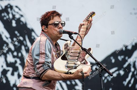 British Guitarist Jamie Hince of the Band 'The Kills' Performs During a Concert at the Frequency 2016 Festival in St Poelten Austria 20 August 2016 the Festival Runs From 17 to 20 August Austria St. Poelten