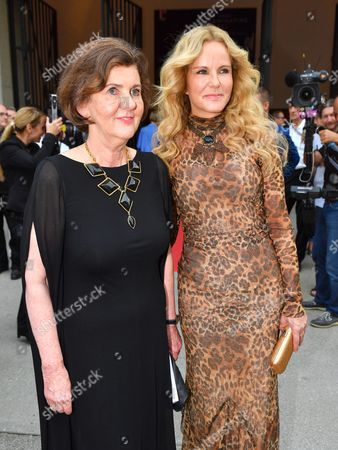 Festival Director Helga Rabl-stadler (l) and German Television Presenter Katja Burkard Arrive Prior to the Premiere of Thomas Ades' Opera 'The Exterminating Angel' During the Salzburg Festival in Salzburg Austria 28 July 2016 the Festival Runs From 22 July to 31 August Austria Salzburg