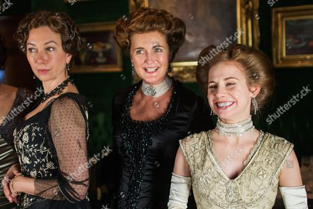 From (l-r): Austrian Actress Ursula Strauss As 'Anna Sacher' Francesca Von Habsburg As 'Englische Diplomatin' and German Actress Josefine Preuss As 'Konstanze Von Traunstein' Pose on the Set During the Filming of the Historical Docudrama 'Das Sacher' at the Hotel Sacher Vienna in Vienna Austria 03 May 2016 the Film is Set in Original Locations in Vienna and Lower Austria Austria Screening the History of the Hotel Sacher Vienna One of the Top Viennese Hotels the Film is Scheduled to Premiere in Austrian Television at the End of 2016 Austria Vienna