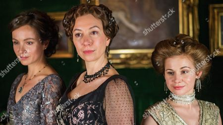 From (l-r): Belgian Actress Julia Koschitz As 'Martha Aderhold' Austrian Actress Ursula Strauss As 'Anna Sacher' and German Actress Josefine Preuss As 'Konstanze Von Traunstein' Pose on the Set During the Filming of the Historical Docudrama 'Das Sacher' at the Hotel Sacher Vienna in Vienna Austria 03 May 2016 the Film is Set in Original Locations in Vienna and Lower Austria Austria Screening the History of the Hotel Sacher Vienna One of the Top Viennese Hotels the Film is Scheduled to Premiere in Austrian Television at the End of 2016 Austria Vienna