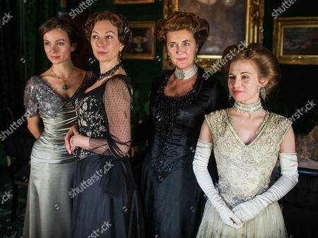 From (l-r): Belgian Actress Julia Koschitz As 'Martha Aderhold' Austrian Actress Ursula Strauss As 'Anna Sacher' Francesca Von Habsburg As 'Englische Diplomatin' and German Actress Josefine Preuss As 'Konstanze Von Traunstein' Pose on the Set During the Filming of the Historical Docudrama 'Das Sacher' at the Hotel Sacher Vienna in Vienna Austria 03 May 2016 the Film is Set in Original Locations in Vienna and Lower Austria Austria Screening the History of the Hotel Sacher Vienna One of the Top Viennese Hotels the Film is Scheduled to Premiere in Austrian Television at the End of 2016 Austria Vienna