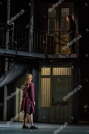 Italian Actress Gerti Drassl As 'Ursula' (l) and Austrian Actor Florian Teichtmeister As 'Fuerchtegott Lehmann' (r) Perform on Stage During the Dress Rehearsal of Oedoen Von Horvath's Play 'Niemand' (nobody) at Theatre in Der Josefstadt in Vienna Austria 30 August 2016 the Typescript of Austrian-hungarian Author Oedoen Von Horvath's Play 'Niemand' was Discovered in the Nineties and Will World Premiered on 01 September 2016 Austria Vienna
