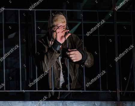 Stock Image of Austrian Actor Florian Teichtmeister As 'Fuerchtegott Lehmann' Performs on Stage During the Dress Rehearsal of Oedoen Von Horvath's Play 'Niemand' (nobody) at Theatre in Der Josefstadt in Vienna Austria 30 August 2016 the Typescript of Austrian-hungarian Author Oedoen Von Horvath's Play 'Niemand' was Discovered in the Nineties and Will World Premiered on 01 September 2016 Austria Vienna