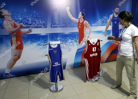 Famous Winning Russian Athletes Sports Suits Are on Display in the Official Olympics Russia House at Fort Copacabana in Rio De Janeiro Brazil 07 August 2016 the Russian Team Will not Be Allowed to Compete in the Rio 2016 Paralympic Games the Head of the International Paralympic Committee (ipc) Sir Philip Craven Announced 07 August with 21 Days Allowed For Russia to Appeal the Ban Prior to the Rio 2016 Olympic Games in Rio De Janeiro Brazil 05 August 2016 Brazil Rio De Janeiro