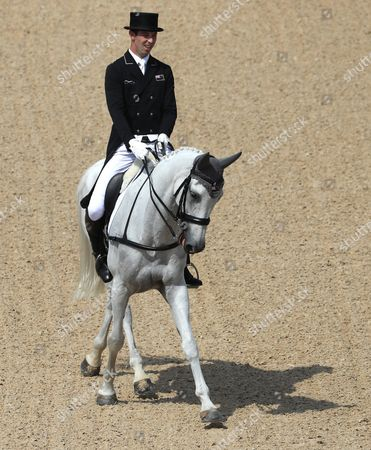 Clarke Johnstone of New Zealand Riding Balmoral Sensation Riding Peter Parker in the Dressage Portion of the Rio 2016 Olympic Games Eventing Individual Competition at the Olympic Equestrian Center in Deodoro Rio De Janeiro Brazil 07 August 2016 Brazil Rio De Janeiro