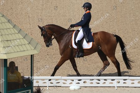 Alice Naber-lozeman of the Netherlands Riding Peter Parker in the Dressage Portion of the Rio 2016 Olympic Games Eventing Individual Competition at the Olympic Equestrian Center in Deodoro Rio De Janeiro Brazil 07 August 2016 Brazil Rio De Janeiro