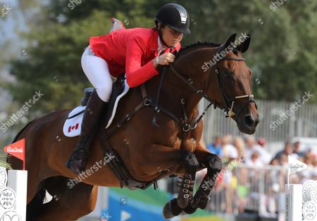 Rebecca Howard of Canada Riding Riddle Master Performs During the Eventing Individual Competition of the Rio 2016 Olympic Games Equestrian Events at the Olympic Equestrian Centre in Rio De Janeiro Brazil 09 August 2016 Brazil Rio De Janeiro