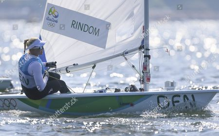 Danish Laser Radial Sailor Anne-marie Rindom During the Rio 2016 Olympic Games Sailing Events in Rio De Janeiro Brazil 16 August 2016 Brazil Rio De Janeiro