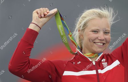 Bronze Medalist Anne-marie Rindom of Denmark During the Award Ceremony in the Women Laser Radial Class of the Rio 2016 Olympic Games Sailing Events at the Marina Da Gloria in Rio De Janeiro Brazil 16 August 2016 Brazil Rio De Janeiro
