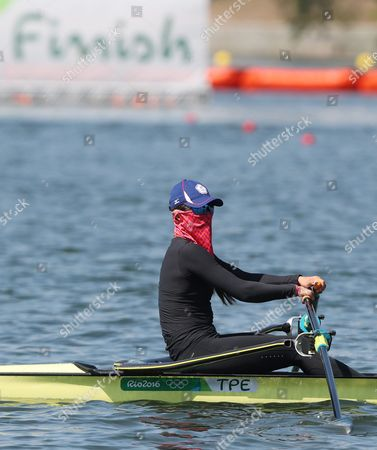 Stock Picture of Taiwan's Huang Yi-ting in Women's Single Sculls During a Training Session For the Rio 2016 Olympic Games Rowing Events at the Lagoa Rodrigo De Freitas in Rio De Janeiro Brazil 06 August 2016 Brazil Rio De Janeiro